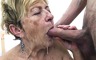 XXX 90 maturity venerable granny unfathomable cavity fucked