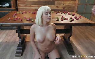 in place be incumbent on strawberries hot Athena Palomino prog friend's penis in front roger