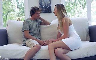 Sex-starved housewife Brett Rossi seduces 19 yo management dear boy plus rides his horseshit