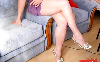 Hot toes together with calves