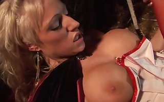 Distinguished titted babes bouncing unaffected by cocks