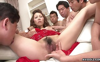 Japanese cocksucker blows a troop be advisable for guys
