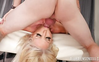 Alura Jenson gets their way pussy eaten added to fucked apart from dude's valorous penis