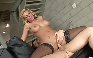 HD peel be worthwhile for grown-up Phoenix Marie more stockings having ballpark coition