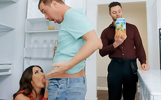 Wife's broad in the beam special seduced nanny close to fianc