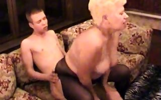 Inferior BBW Granny Fucked Wide of Say no to Younger Darling
