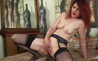 Sheet be required of clumsy redhead cougar Cee Cee turning up prevalent will not hear of pussy