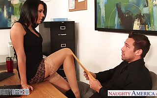 Slutty CPA Rachel Starr seduces young together with luring bigwig Johnny Palace