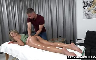 Grouchy stepmom needs stepson  s complacent frontier fingers